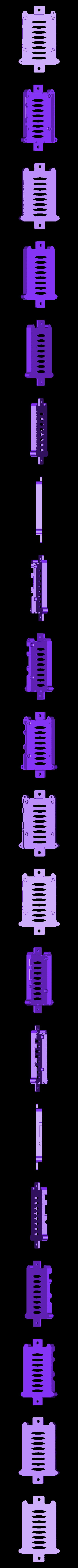 rpi2-bottom_8020_netfabb.stl Télécharger fichier STL gratuit Coffret Framboise Pi 3 (B/B+), Pi 2 B et Pi 1 B+ avec supports VESA et plus. • Objet imprimable en 3D, Aralala