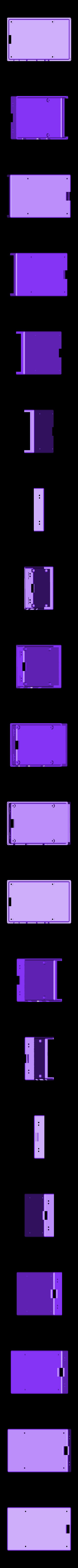 Pi_Snug_Case_Bottom.stl Download free STL file Raspberry Pi Snug Case • 3D printable design, Aralala