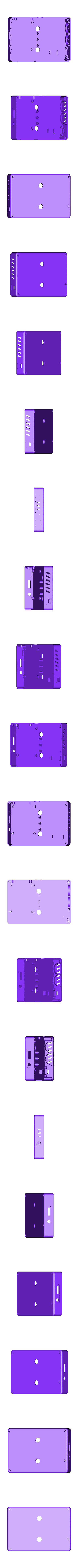 Rear_of_case.stl Download free STL file Portable Raspberry Pi game console • 3D printing object, Lassaalk