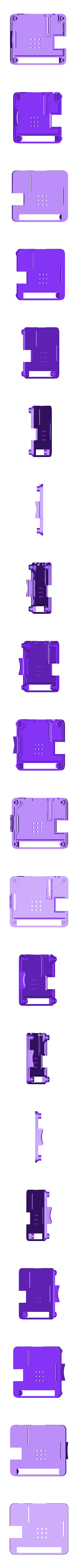 A_plus_compact_top_v2.1.stl Download free STL file A very compact Raspberry Pi A+ case • 3D printable template, Lassaalk
