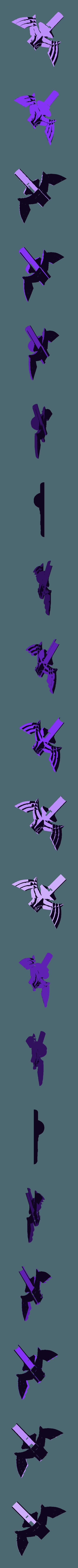 MS-Wings-top.stl Télécharger fichier STL gratuit LED Zelda Master • Modèle pour imprimante 3D, Adafruit
