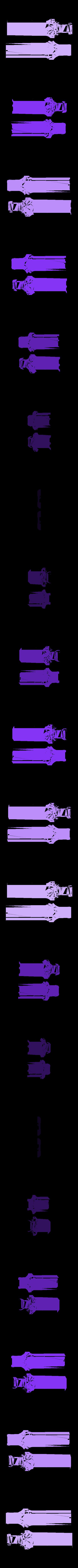 MS-HandleBlade.stl Download free STL file LED Zelda Master • 3D printable template, Adafruit