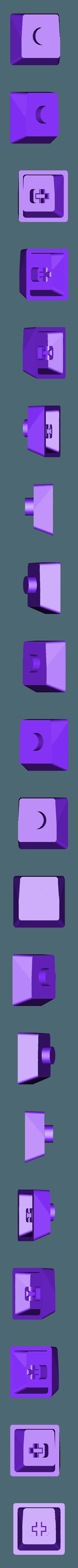 Pac-Man_-_Small_Dot.stl Télécharger fichier STL gratuit Pac-Man Cherry MX Keycaps • Objet à imprimer en 3D, FedorSosnin