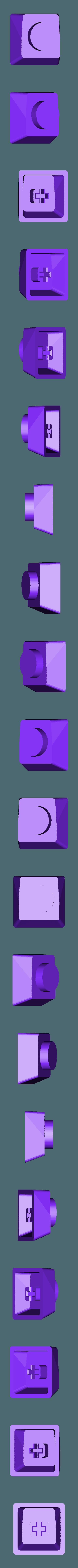 Pac-Man_-_Big_Dot.stl Télécharger fichier STL gratuit Pac-Man Cherry MX Keycaps • Objet à imprimer en 3D, FedorSosnin