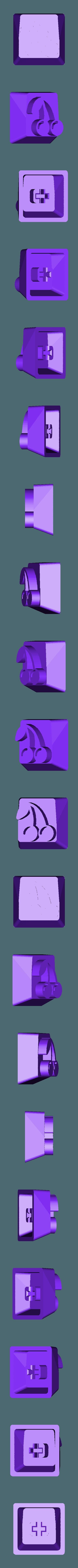 Pac-Man_-_Cherry.stl Télécharger fichier STL gratuit Pac-Man Cherry MX Keycaps • Objet à imprimer en 3D, FedorSosnin