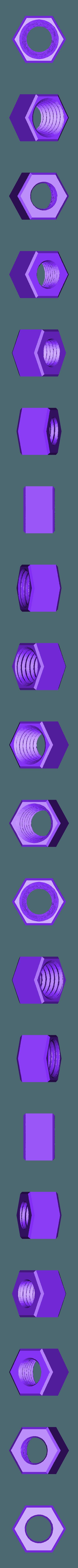 Nut.stl Download free STL file Ender & CR-10 Filament Guide with built-in locking PTFE tube coupler • 3D printer model, FedorSosnin