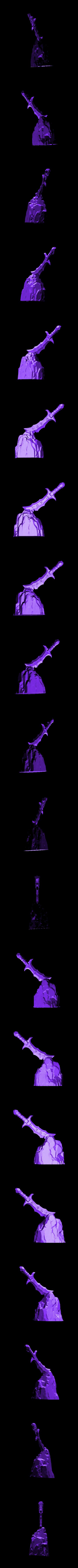 sword-stone.stl Download free STL file Stylized Sword • 3D print object, CarlCreates