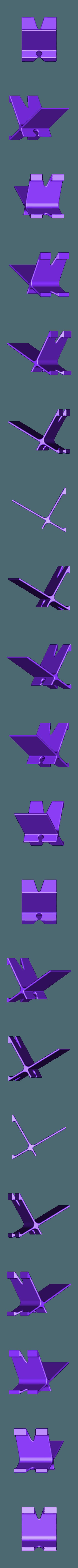 Phone_Stand.stl Télécharger fichier STL gratuit Support de téléphone avec acheminement du câble • Plan pour imprimante 3D, mikedelcastillo