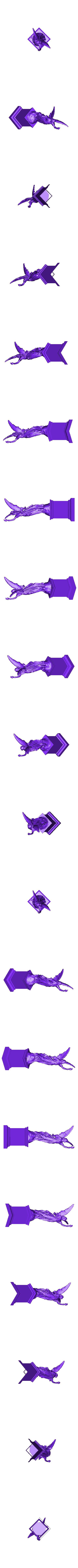 StatueWithFire.stl Download free STL file Angel statue with fire • 3D printer template, Boris3dStudio