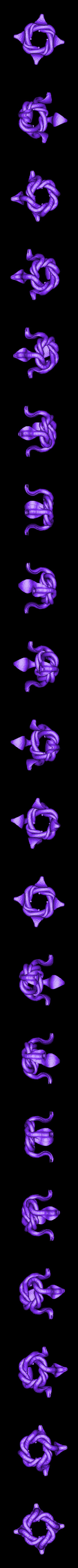 4COBRA.stl Télécharger fichier STL gratuit Quatre nœuds cobra • Plan à imprimer en 3D, Boris3dStudio