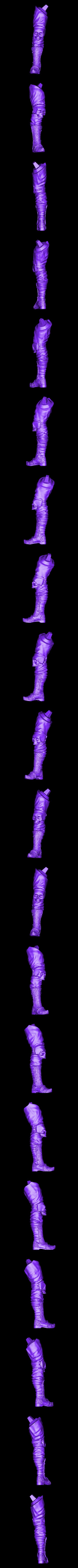 LegR_repaired.stl Download free STL file Soul Reaper demon hunter • 3D print object, Boris3dStudio