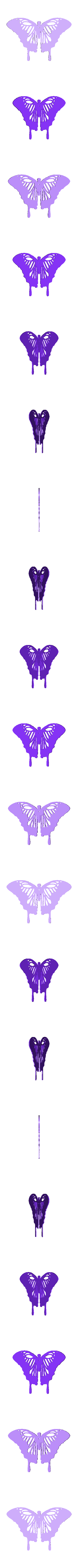 Papillon_exterieur.stl Download free STL file Wall decoration Butterfly 2 colours • 3D printable object, oasisk