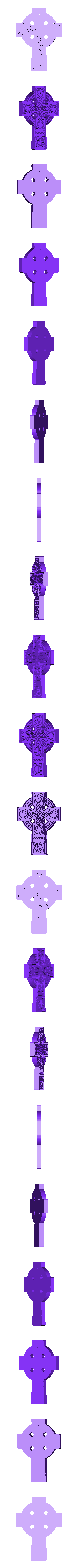 Croix celte2.stl Download free STL file CELTE CROSS Model 2 • 3D printing model, oasisk