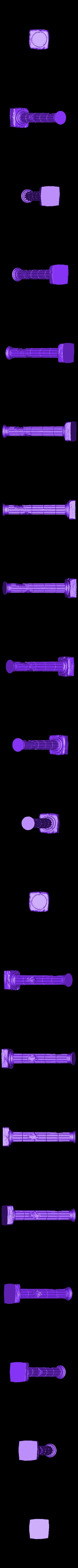 Column_A.stl Télécharger fichier STL gratuit Colonne de ruines romaines/grecques • Plan pour imprimante 3D, DarkRealms