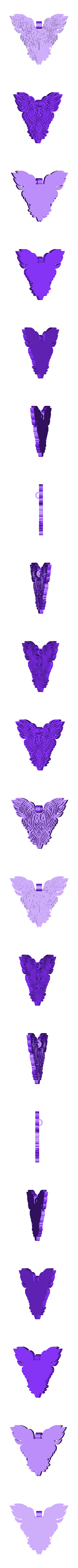 Chouette_Pendentif.stl Download free STL file OWL OWL Pendant and Wall Decoration • 3D printing object, oasisk