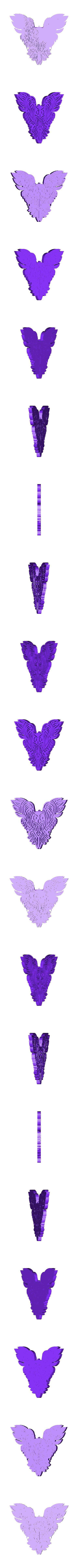 Chouette_Decor.stl Download free STL file OWL OWL Pendant and Wall Decoration • 3D printing object, oasisk