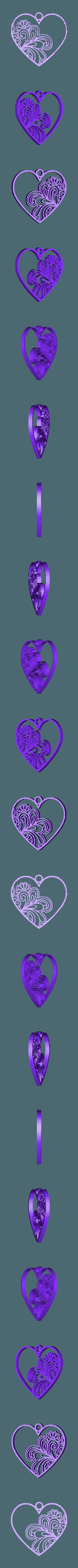 Coeur mural.stl Download free STL file HEART • 3D printing template, oasisk