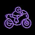 motofinal.stl Download STL file Motorcycle keychain • 3D printable template, motek
