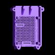 FULL_SLOTTED.STL Télécharger fichier STL gratuit Étui Pi 4B Framboise Framboise • Objet pour imprimante 3D, mkellsy