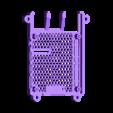 SLIM_SLOTTED.STL Télécharger fichier STL gratuit Étui Pi 4B Framboise Framboise • Objet pour imprimante 3D, mkellsy