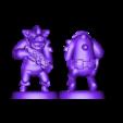 WarpigGruntSplit.stl Télécharger fichier STL gratuit Miniature - Cochon de guerre Grunt (Échelle 18mm) (2016) • Objet à imprimer en 3D, whackolantern