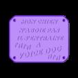 VOICE DOG.stl Télécharger fichier STL gratuit PLAQUE DE MISE EN GARDE • Design pour imprimante 3D, zarghan
