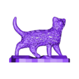 "voroimchat.stl Download free STL file ""Voronoi"" cat • 3D print model, albino"