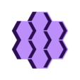 hexGamePieceContainer_7.stl Download free SCAD file 7 Hex Container for Small Parts and Games • 3D printing object, dantu