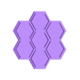 hexGamePieceContainer_7_lid.stl Download free SCAD file 7 Hex Container for Small Parts and Games • 3D printing object, dantu