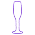 Champagne.stl Download free STL file Champagne glass cookie cutter for new year • 3D printing object, Ragkov