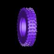 Truck_V4_Tyre_Treaded_Solid.STL Download STL file 3D Printed Rc Truck V4 • 3D printable template, MrCrankyface
