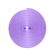 30mm_Spiral_Earring.stl Download free SCAD file Customizable Hanging Spirals • Model to 3D print, WalterHsiao