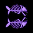 Skelet_Poisson_2_Faces.stl Download free STL file Keyring, Fish skeleton • 3D print model, phipo333