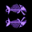 Skelet_Poisson1_PorteClef.stl Download free STL file Keyring, Fish skeleton • 3D print model, phipo333