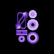 2wingsAnd_HdwPlate.stl Télécharger fichier SCAD gratuit Papier imprimé WindMill v0 • Modèle pour imprimante 3D, Wachet