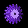 Bevel_gear_mechanism_left_gear.stl Télécharger fichier STL gratuit Mécanisme qui ne tourne que dans un sens, quoi qu'il arrive !!!!! Engrenage conique • Objet à imprimer en 3D, matthewdwulff