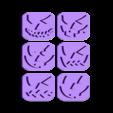 caras.stl Télécharger fichier STL gratuit PACK CHAUSSURES ET CHAUSSURES - SCEAUX ECHANGEABLES - CHAUSSURES HALLOWEEN CUTTING - FONDANT MASS CUTTING AND pumpkin CLAY - 8 AND 10cm • Objet imprimable en 3D, Agos3D
