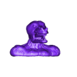 BUSTO REPTIL PART 1.stl Download free STL file lizar warrior bust. • 3D printer object, neoneknk