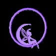 fee lune creuse.stl Télécharger fichier STL gratuit chassis attrape reve • Modèle pour imprimante 3D, jrr