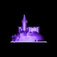 castle-final.obj Télécharger fichier GCODE gratuit Castle Mountain ! (Multicolore/Multimatériau) • Modèle pour imprimante 3D, MakerMathieu