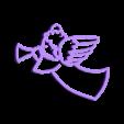 ange trompette ornement  attache.stl Download free STL file Angel ornament • 3D printing design, motek