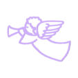 ange trompette ornement no attach.stl Download free STL file Angel ornament • 3D printing design, motek