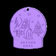boule de neige joyeux noel.stl Download free STL file Snowball ornament • Template to 3D print, Motek3D