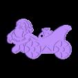 pere noel tuning.stl Download free STL file Sleigh ornament • Model to 3D print, Motek3D