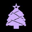 Christmas tree point.stl Download free STL file Christmas tree ornament • 3D printer design, motek