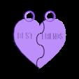 Friends keyring.stl Download free STL file Best friends BFF during • 3D printer object, serial_print3r