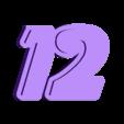 Wall Clock_12.stl Download free STL file Numbers for Bird wall clock • 3D printable design, MAyobe