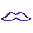Christmass_cookie_mustache.stl Download free STL file Christmas cookie cutters • 3D printable object, c47
