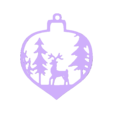 adorno ciervo.stl Download free STL file Christmas ornament Deer • 3D printable object, zafirah99