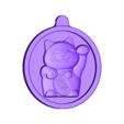 maneki-neko-MEDAILLON.obj Download OBJ file Maneki Neko (good luck charm) • 3D printing model, omni-moulage